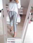 Spodnie w krate Zara S...