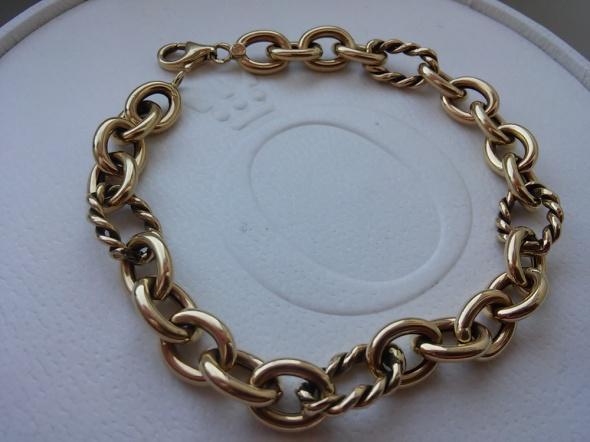 Okazała złota bransoletka 585
