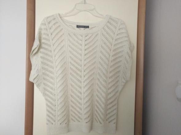 Swetry Ażurowy kremowy sweter Atmosphere
