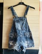 Ogrodniczki jeansowe 36 S lub 34 XS FISHBONE NY modne jeansy...