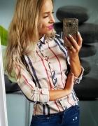 koszula bluzka krata kratkę 38 40 sexy modna jak burberry...