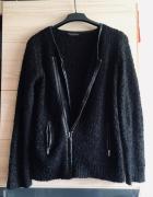 Sweter z zamkiem Dorothy Perkins OVERSIZE lub SML czarny elegan...