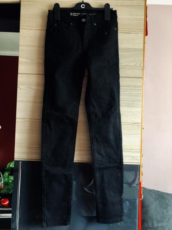 Jeansy CUBUS nowe czarne 24x32 XS 34 STRAIGHT porządne gruby ro...