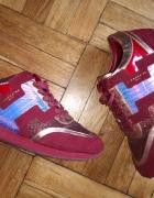 liebeskind czerwone bordowe adidasy sneakersy 40 skóra naturaln...