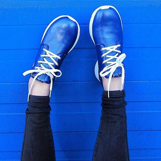 Sportowe est 1842 niebieskie adidasy sneakersy 40 metaliczne skór naturalna