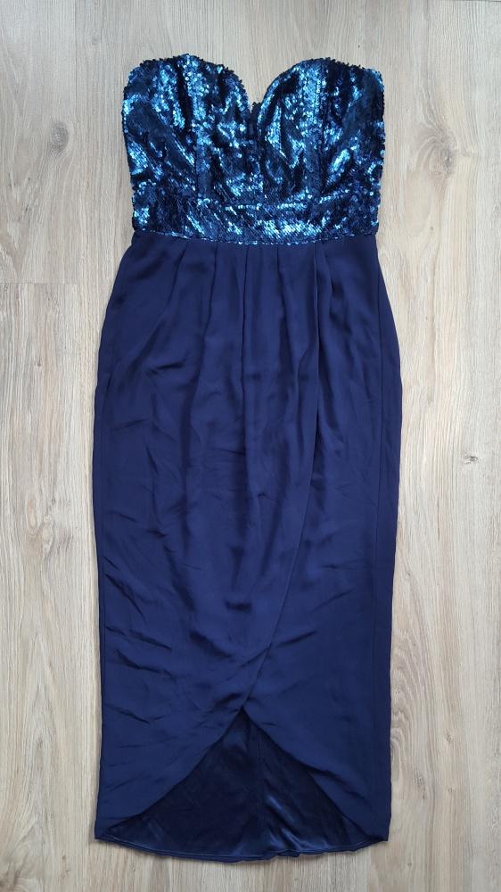 Granatowa sukienka TFNC London...