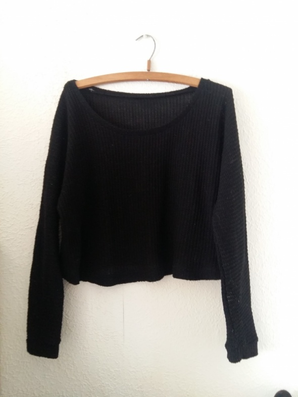 Czarny sweter S M