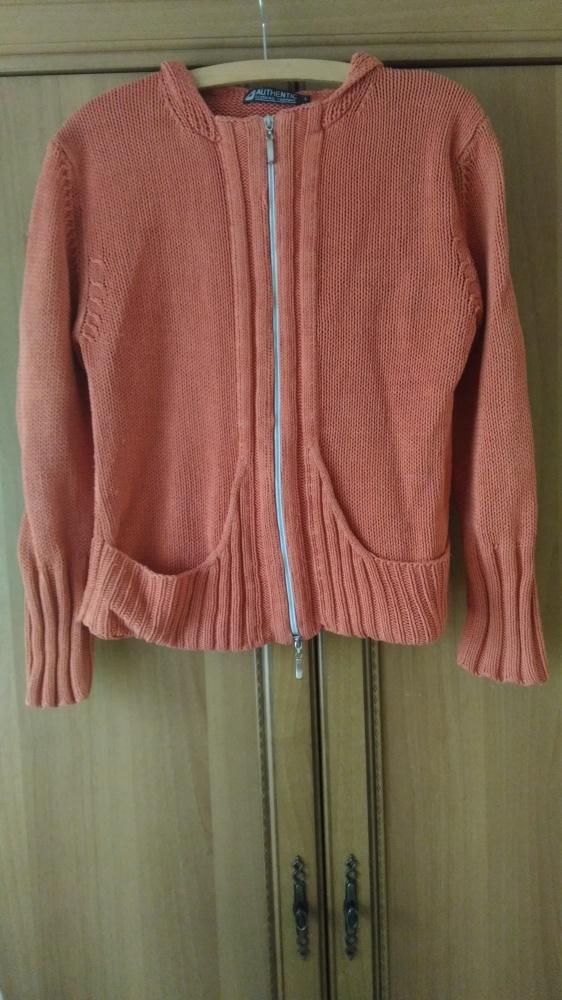 Pomarańczowy sweter bluza na zamek z kapturem 40 Atmosphere...