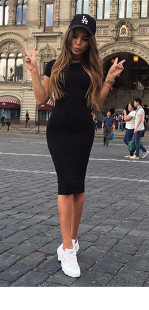 Sukienka dresowa NOWA midi rozmiar SM