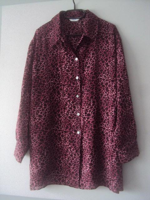Koszule panterkowa koszulowa tunika