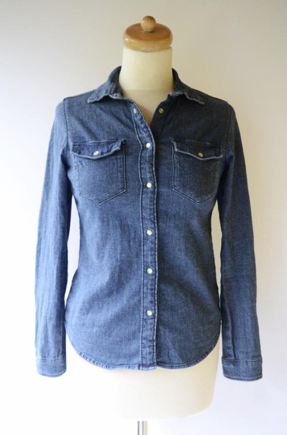 Koszula Dzinsowa Jeansowa H&M S 36 Dzins Jeans Niebieska...