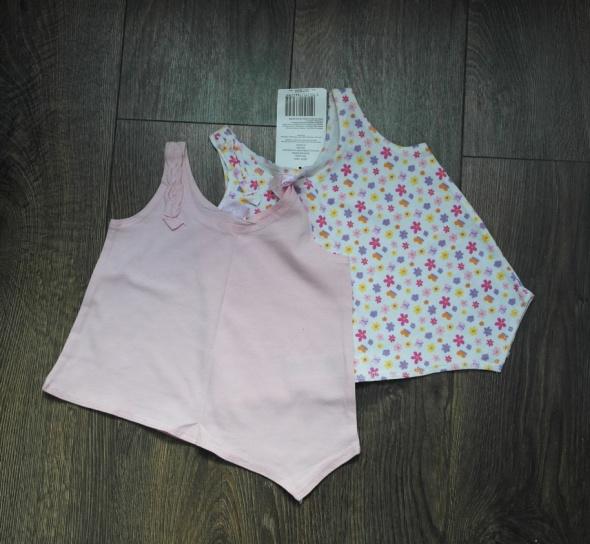 Bluzki NOWE 2 bluzeczki CHEROKEE ramiączka 12 18m