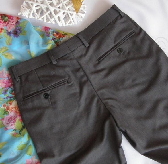 rurki skiny Burton 34 36 szare nowe eleganckie kant kieszenie
