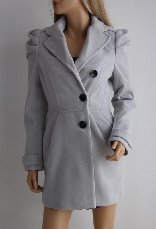 Kurtka płaszcz dopasowany 34 36 Vintage szary