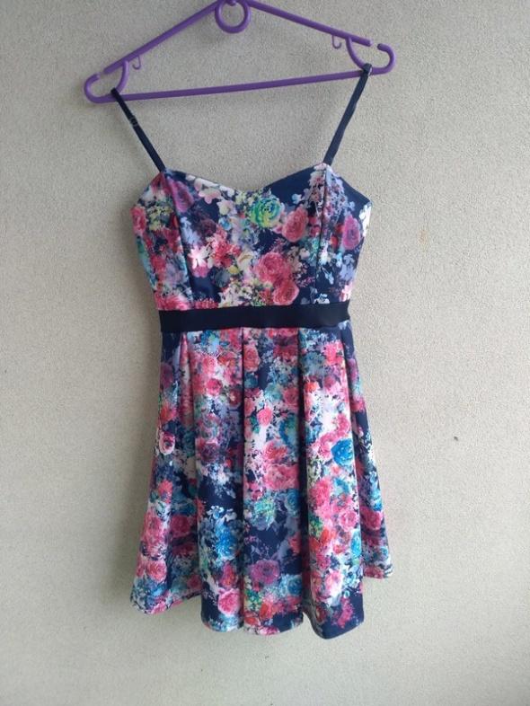 sukienka w kwiaty S...
