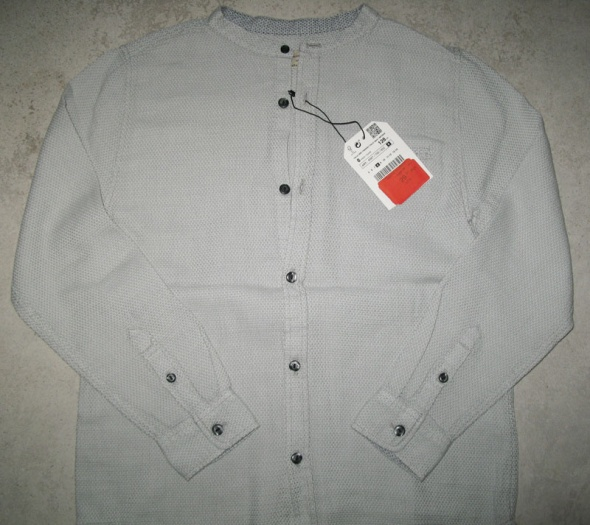 Koszulki, podkoszulki ZARA szara koszula chłopięca roz 128