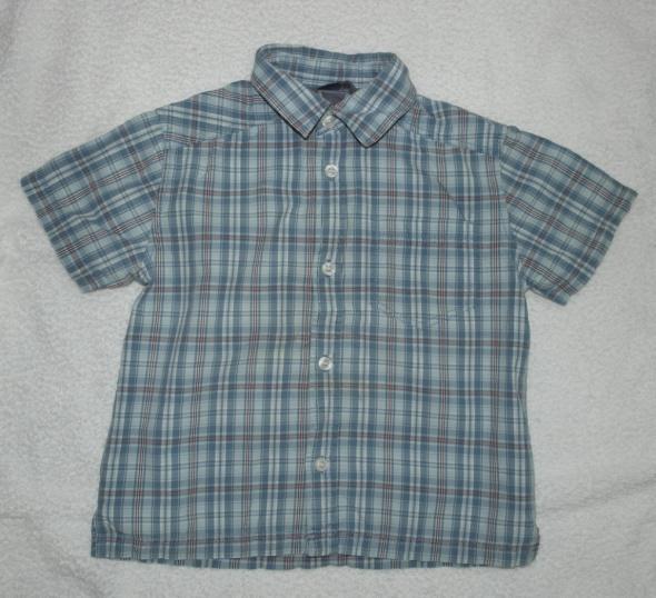 Koszulka krótki rękaw kratka H&M 104