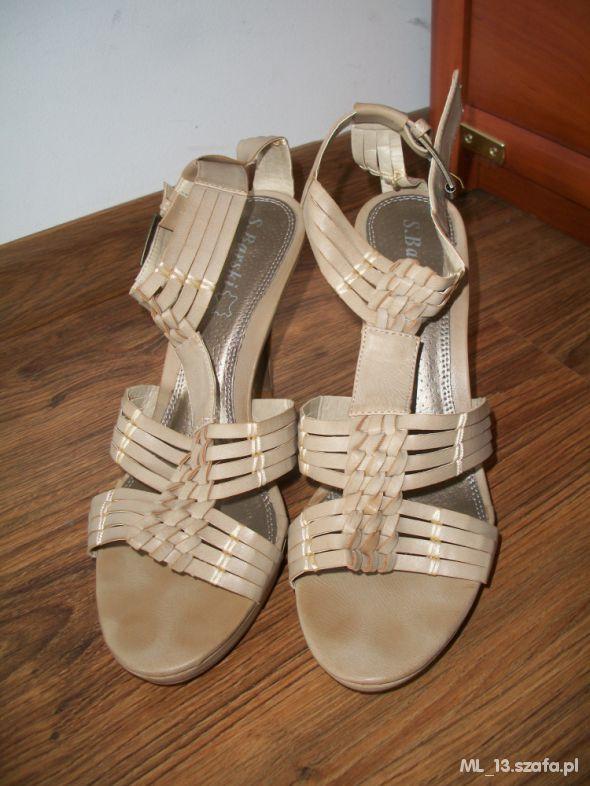 Sandały Sandałki gladiatorki kremowe roz 41