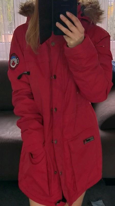 Kurtka zimowa Cubus czerwona S...