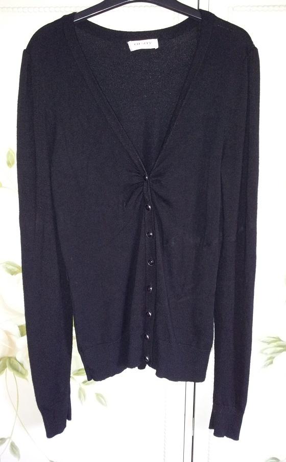 Sweter kardigan Orsay M 38 czarny L 40 guziki zapi...