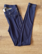 Granatowe legginsy Caldezonia 36 S jak jeans dżinsy jegginsy ci...