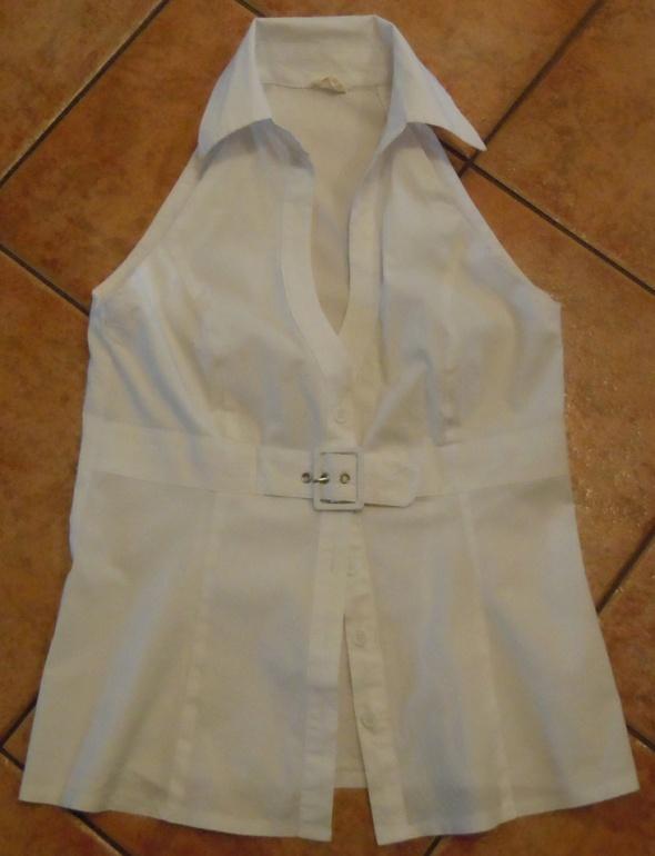 Biała bluzka bez rękawów Marks&Spencer 40 L...
