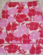 Spódnica wzór kwiaty różowo biała Oasis 40 L...