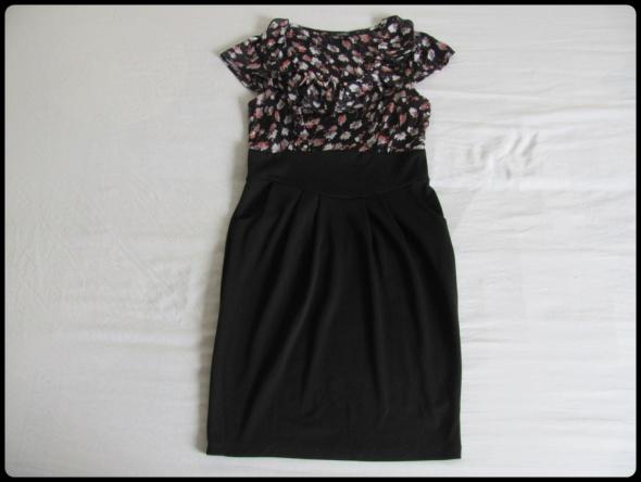 Dunnes sukienka czarna w kwiatki rozmiar 40 L...