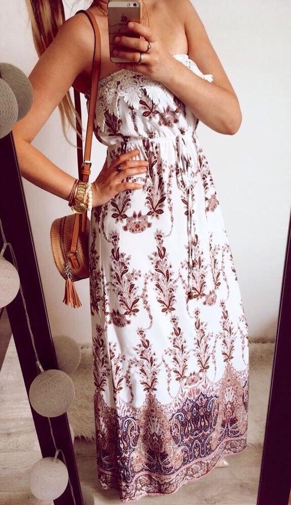 Sukienka Damska boho długa S