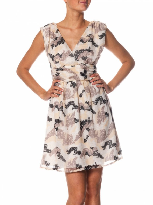 VERO MODA szyfonowa sukienka XS...
