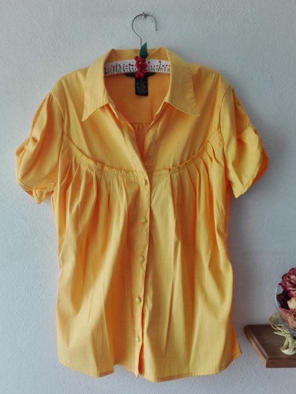 Kanarkowa koszula z krótkim rękawem