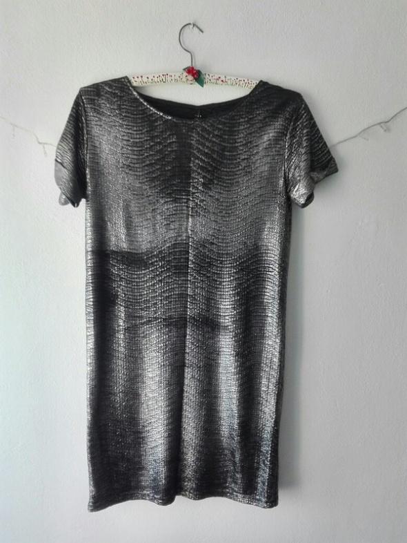 Suknie i sukienki Srebrna sukienka oversize