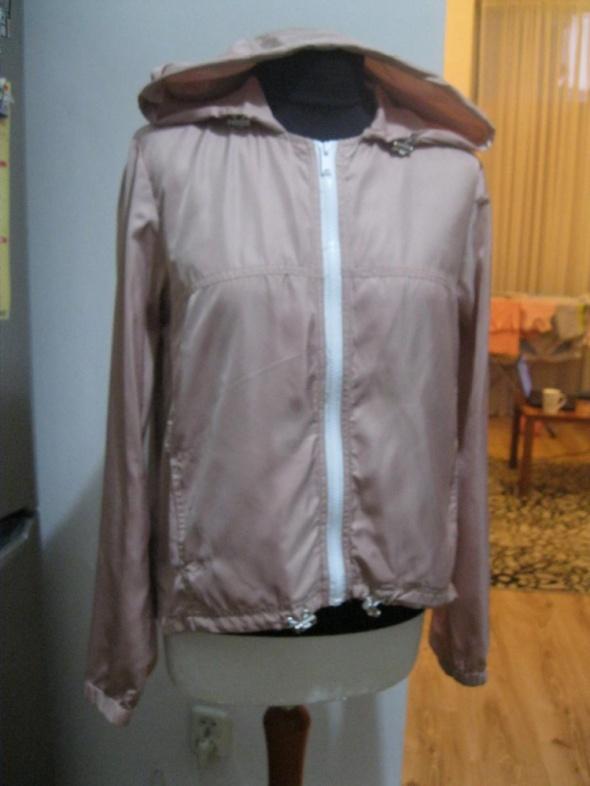 kurtka jesienna NEW LOOK 158 pudrowa asymetryczna