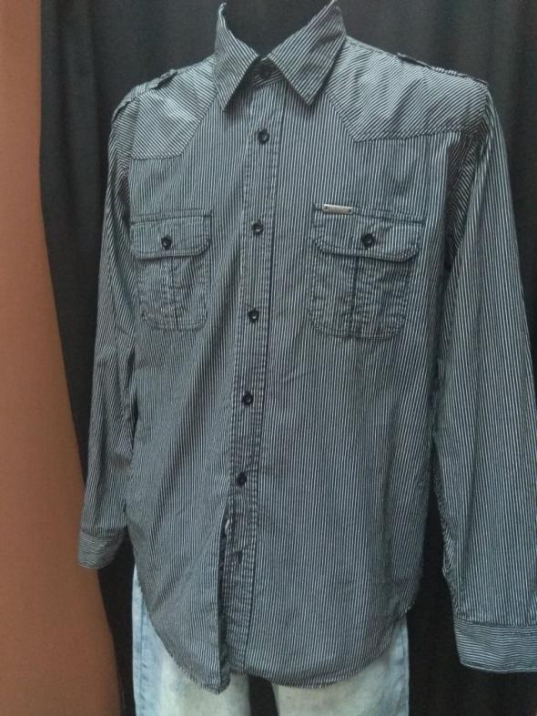 Koszula męska bawełniana bawełna paski prążki Bygen XXL 45  CkXAU
