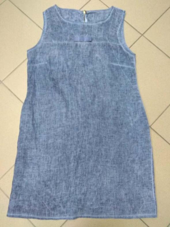 Sukienka bawełniana niebieska jeans L 40