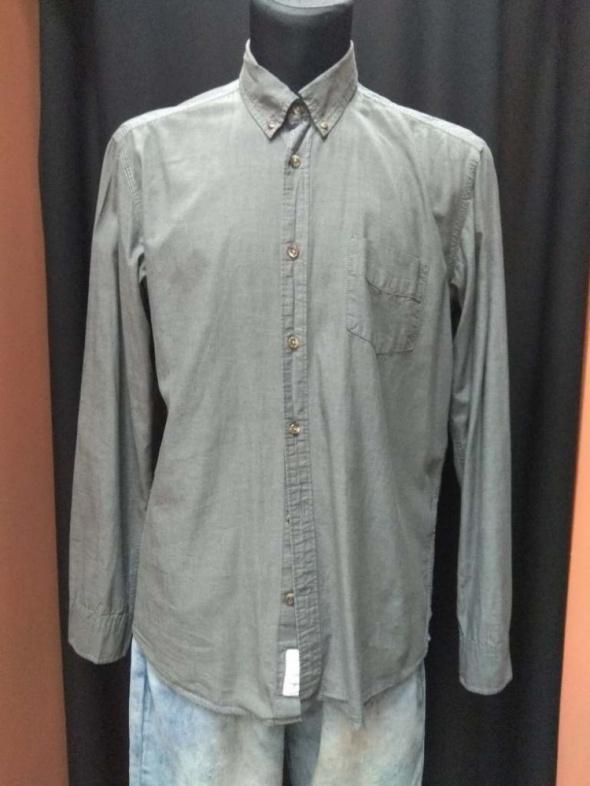 Koszula męska szara Regular H&M L 180 108