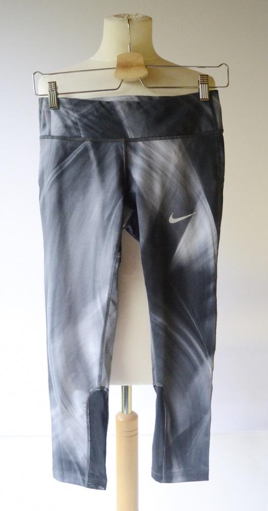 Spodenki Rybaczki XS 34 Nike Dri Fit Szare Wzory Sportowe...
