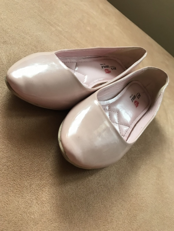 Balerinki baletki pudrowy róż...