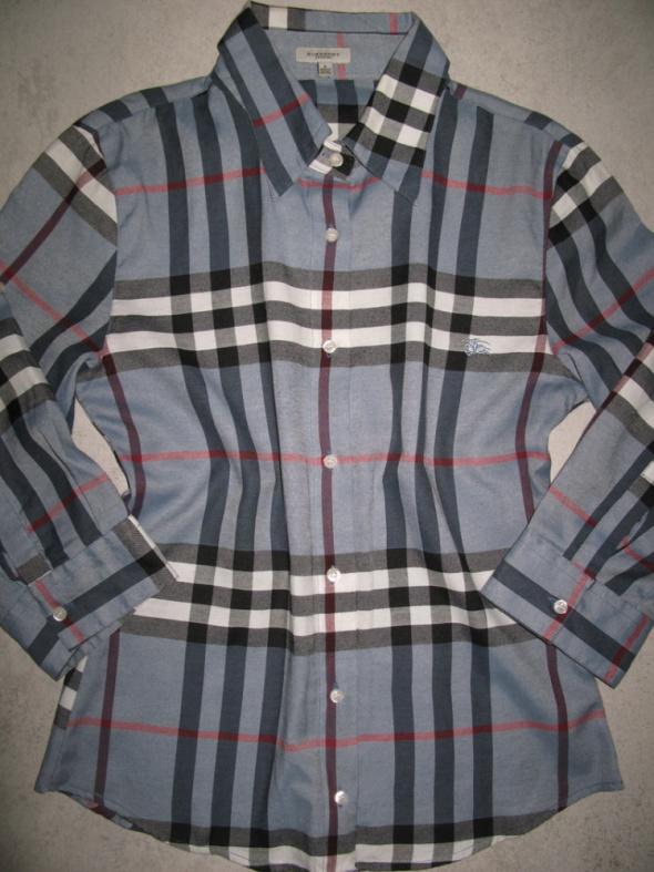 BURBERRY granatowa koszula damska w kratkę roz 36