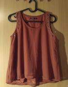 Elegancka bluzka bez rękawa kolor ceglasty rozmiar 34 reserved...