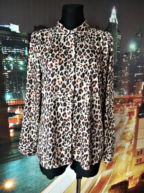 h&m koszula modny wzór panterka jak nowa casual 38 40