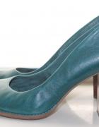 piękne oryginalne buty Clarks na drewnianym obcasie...