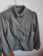 Koszula khaki ze zdobieniem...