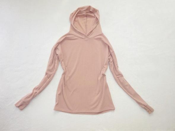 BooHoo pudrowa różowa luźna bluza z kapturem 36 S 38 M