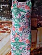 top secret sukienka ołówkowa kwiaty floral 38 M...