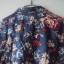 granatowa koszula w kwiatuszki