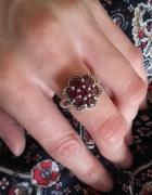 Srebrny pierścionek z rubinami r13 srebro 925...