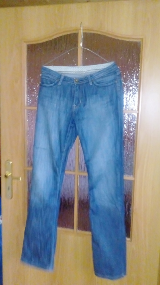 Spodnie jeansy proste nogawki long 38