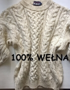 Beżowy sweterek wełna oversize S M L XL...