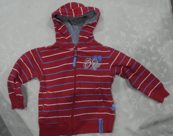 Bluza czerwona w paski 92